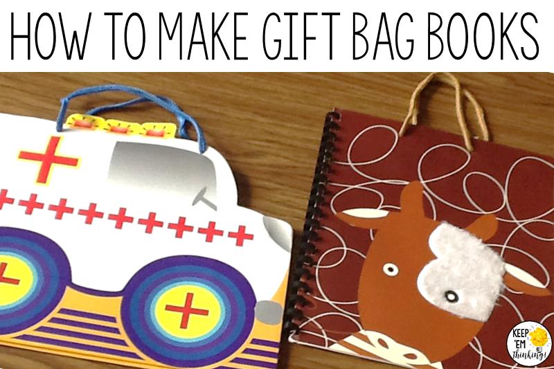 KEEP EM THINKING HOW TO MAKE GIFT BAG BOOKS