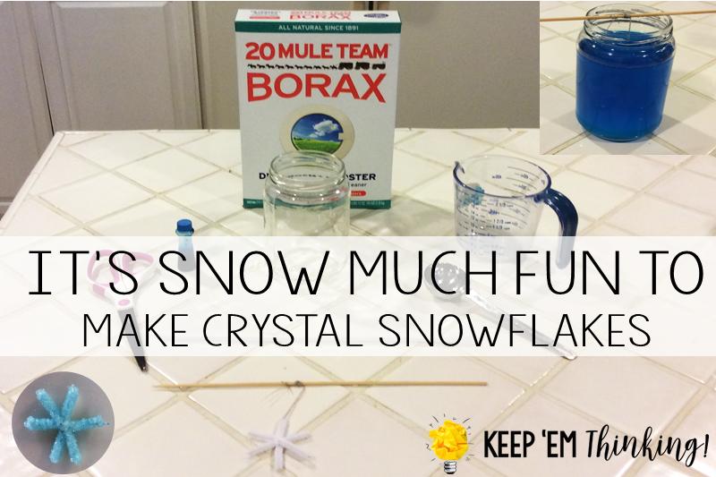 KEEP EM THINKING MAKE CRYSTAL SNOWFLAKES