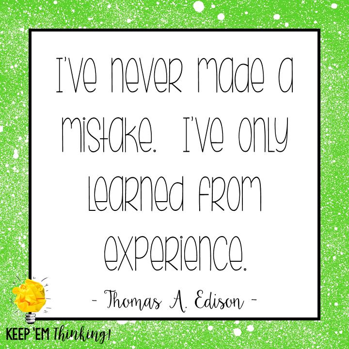 Mistakes Quote Thomas Edison