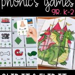 picture of a slip it and flip it self-checking phonics game in use