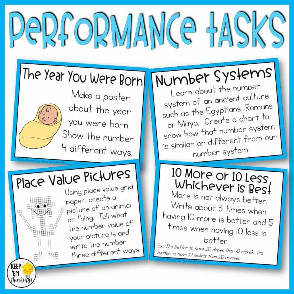challenging place value performance tasks