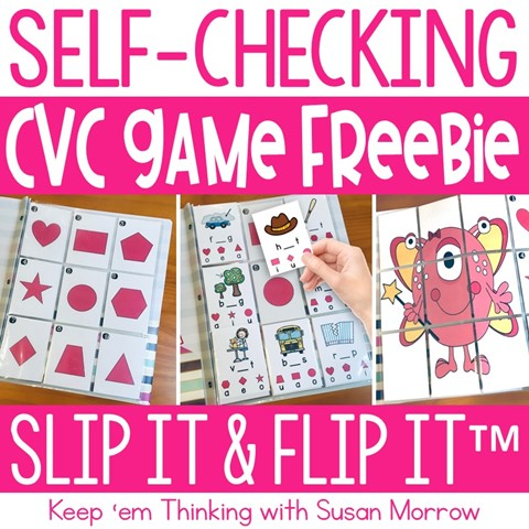 slip it and flip it cvc game freebie