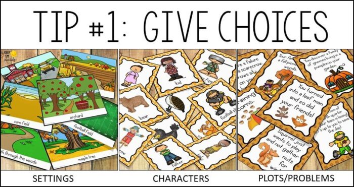 Give reluctant writers choices