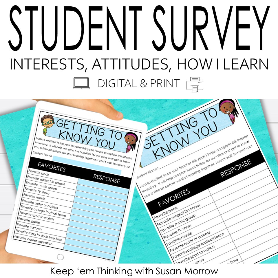 student survey for student achievement