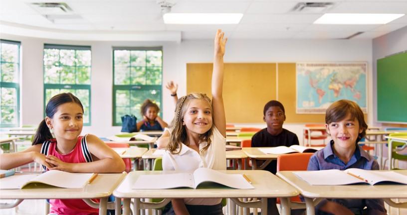 students achievers student raising hand